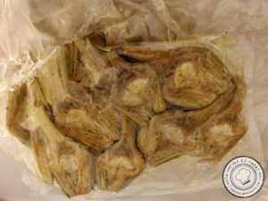 Alcachofas envasadas al vacío