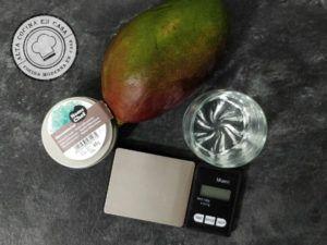 Ingredientes Esferificación Mango