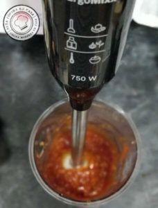 Triturado de la salsa barbacoa