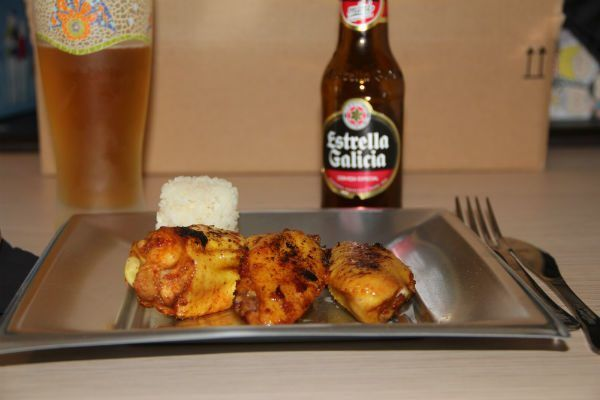 final del plato alitas de pollo a baja temperatura al curry