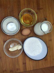 ingredientes para hacer la receta de crepes