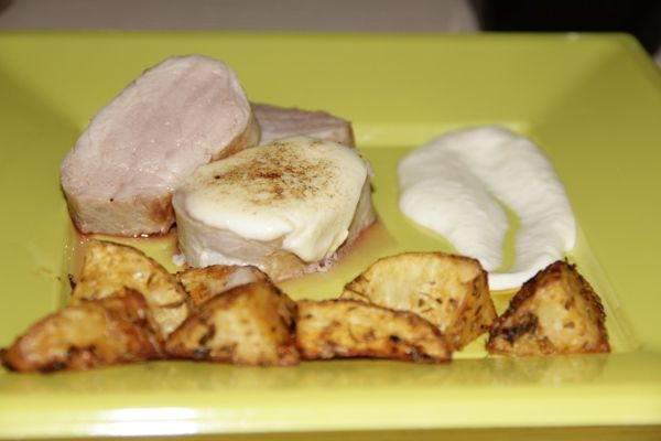 Presentación Receta Solomillo de Cerdo a Baja Temperatura con Alioli de Manzana