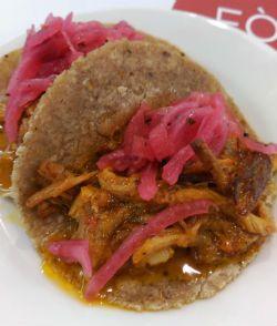 Taco de cochinita Pibil del Oaxaca Barcelona