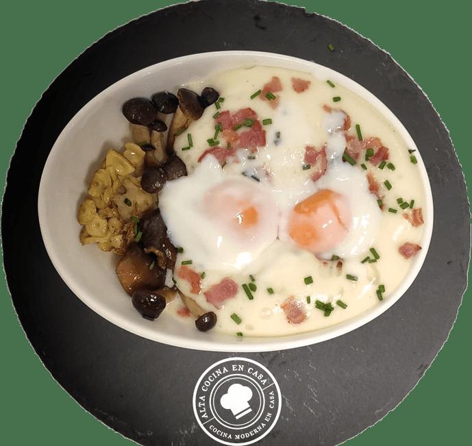 Huevos Sous Vide con Espuma